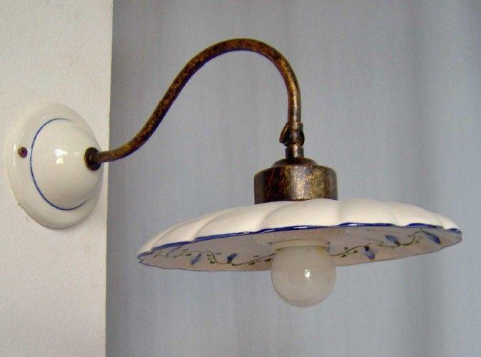 Applique in ottone lampade da parete a muro illuminazionedepoca