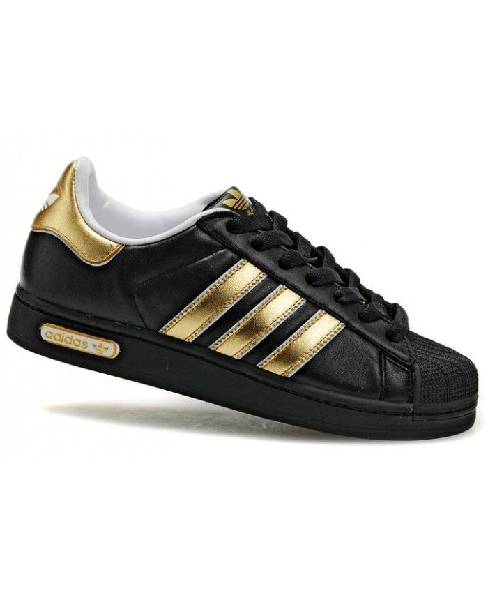 Adidas Superstar II Gold Black Shoes | shoes | Adidas