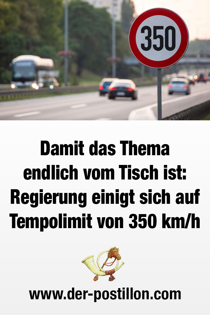 Photo of So that the topic is finally off the table: Government agrees on speed limit of 350 km / h