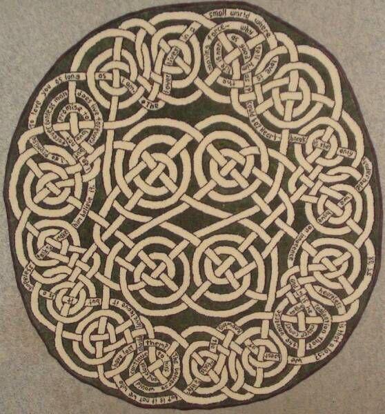 Celtic Knot Style Rug Irish