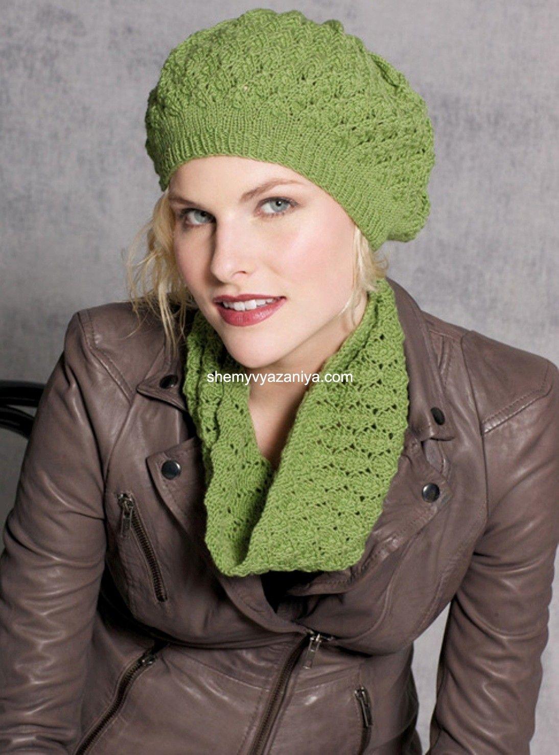 Вяжем шапки шарфы схемы и описания