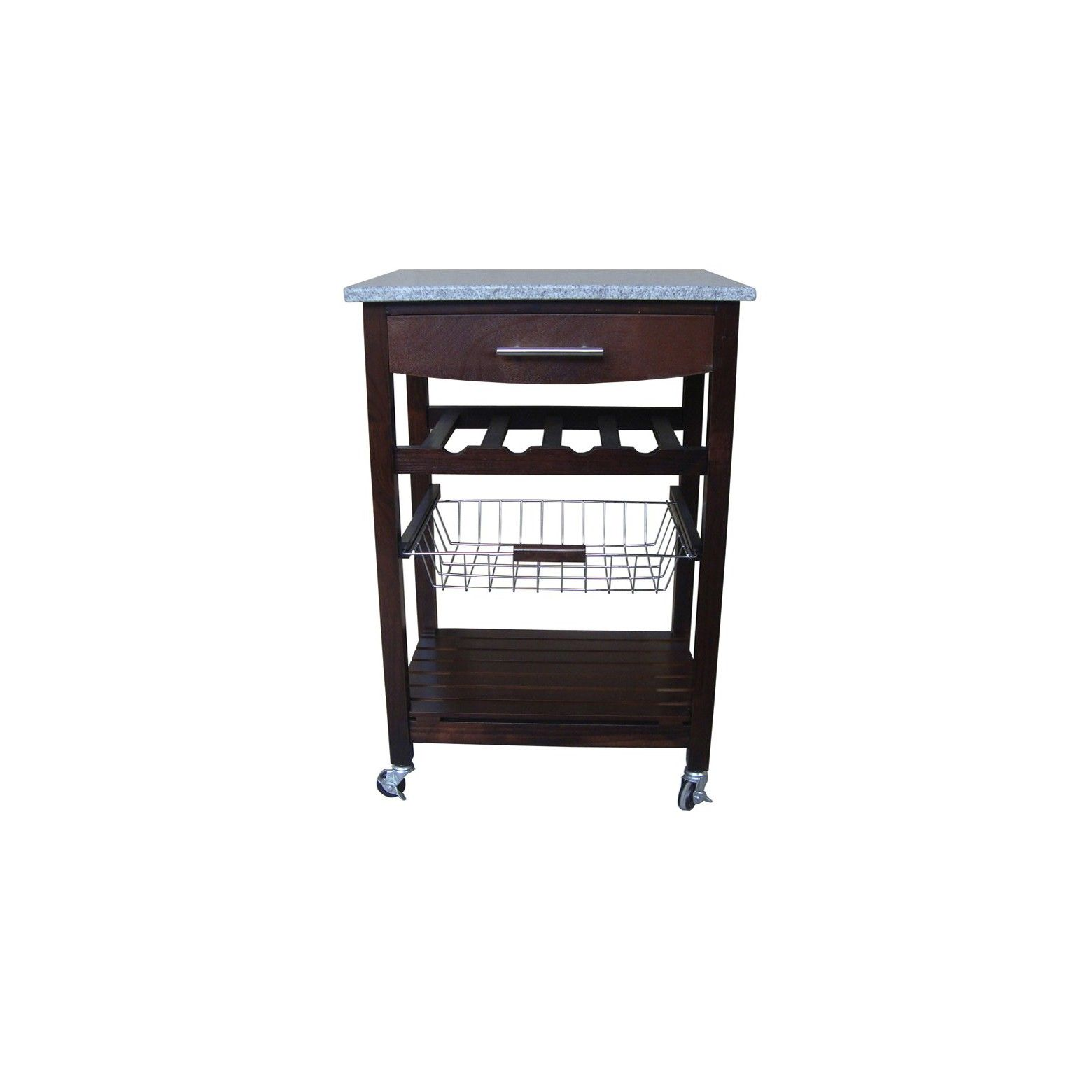 Granite top kitchen cart brown granite tops wire storage and granite