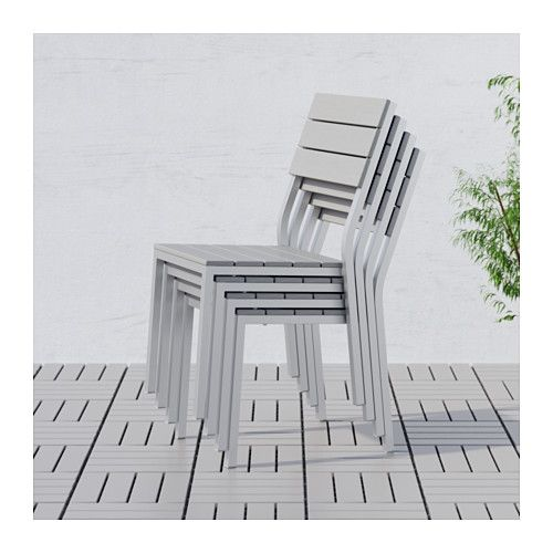 IKEA FALSTER Chairs, Outdoor Grey The Polystyrene Slats Are  Weather Resistant And Easy To Care For.