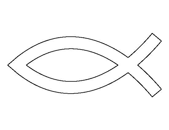√ Druckvorlage Christliches Symbol Fisch Zum Ausdrucken