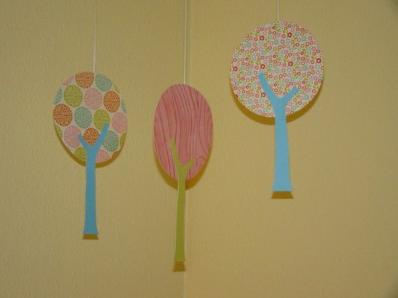 Set Of 3 Hanging Trees By Magicalwhimsy On Etsy Bird