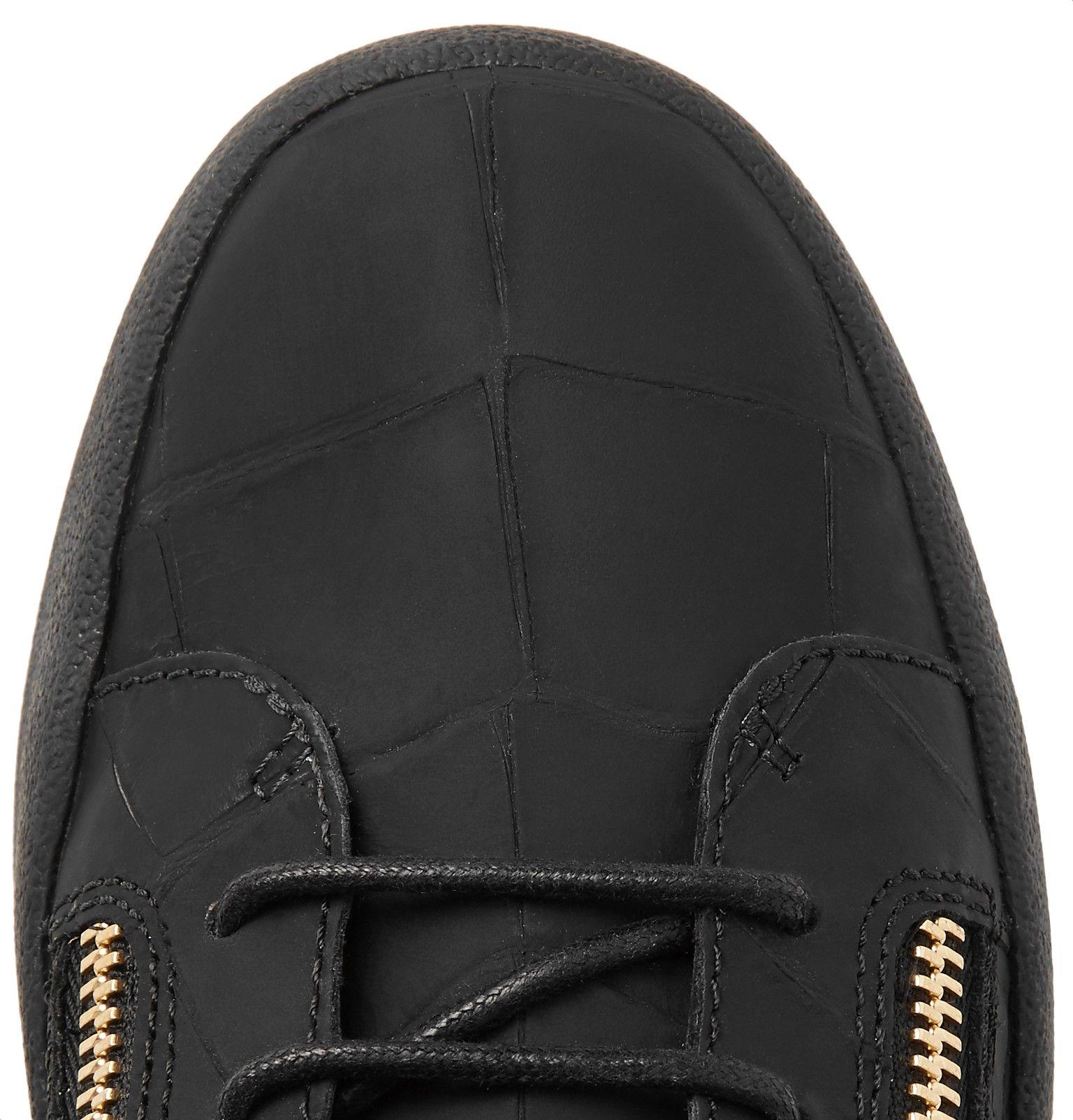 b1726c975facb Giuseppe Zanotti - Logoball Croc-Effect Leather High-Top Sneakers