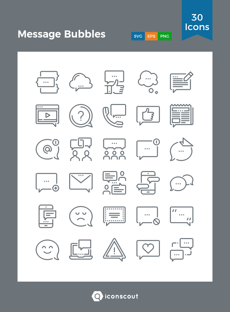 Download Message Bubbles Icon Pack Available In Svg Png Eps Ai Icon Fonts Icon Banks Icon Line Web