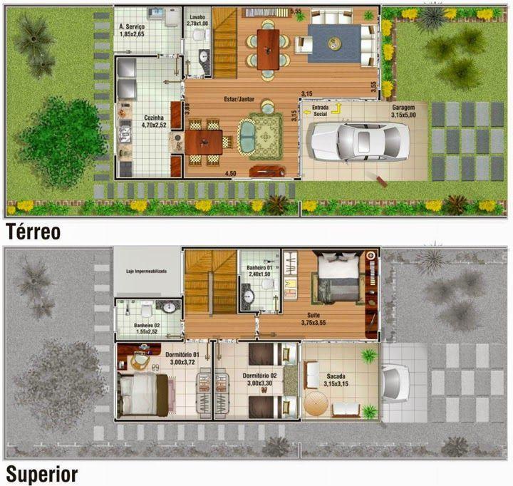 Famosos Resultado de imagem para casa duplex revestimento externo  QK05