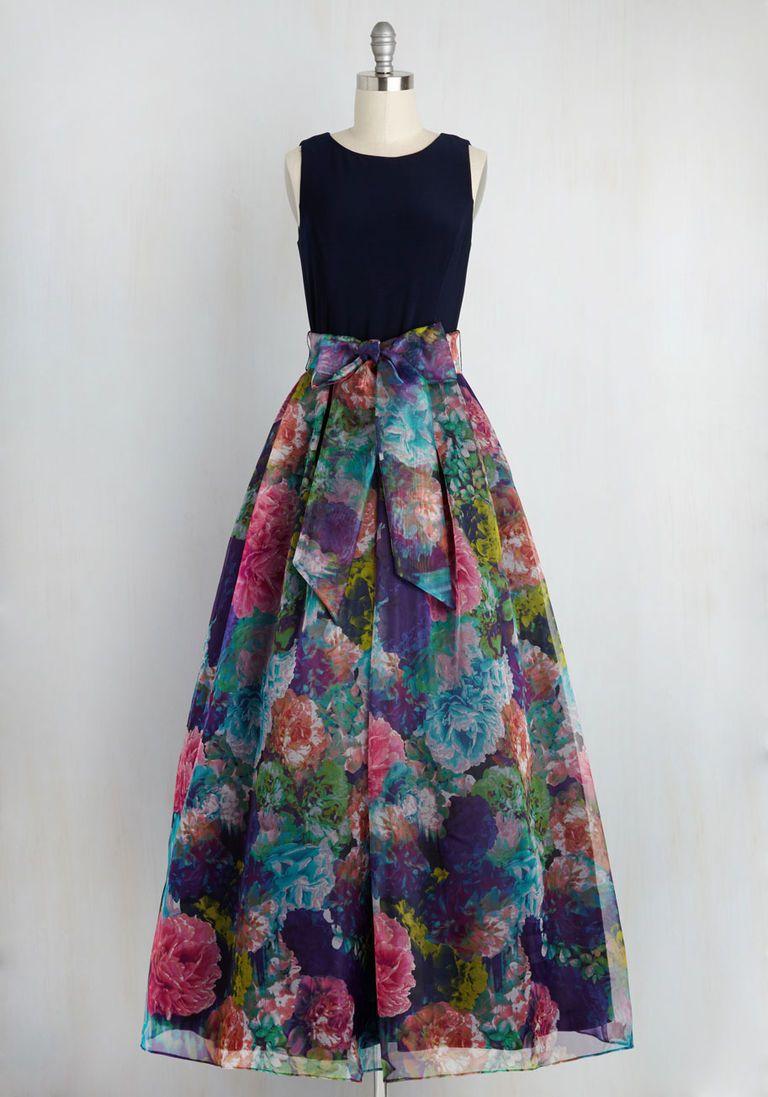 Eliza j party prestige floral maxi dress in navy wedding