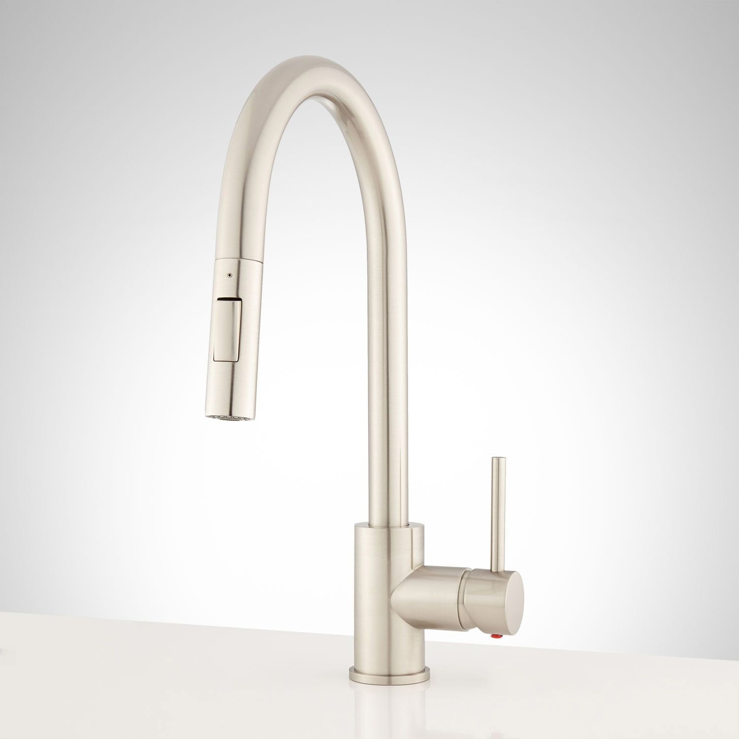 Bocard Single Hole Pull Down Kitchen Faucet Brushed Nickel