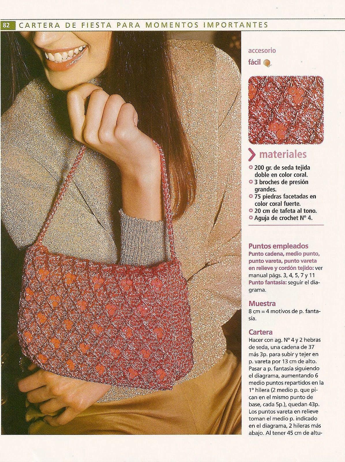 Bolso Momentos Especiales Tricot-Crochet - Patrones Crochet ...