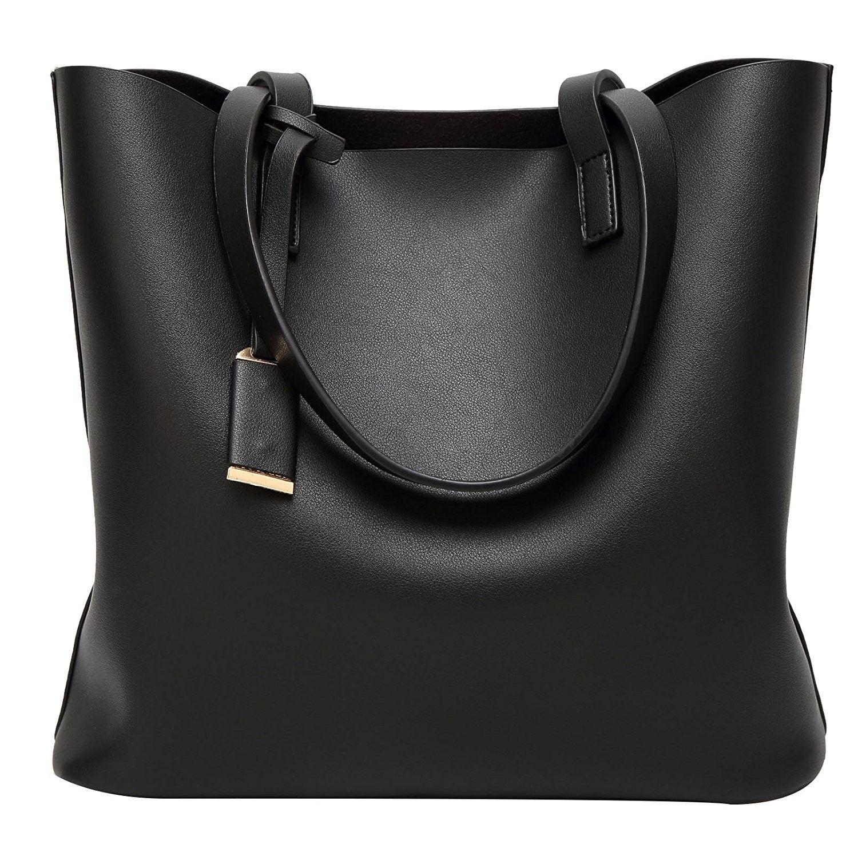 Fashion Women Structured Classic Handbag PU Leather Shoulder Bag Tote Bag