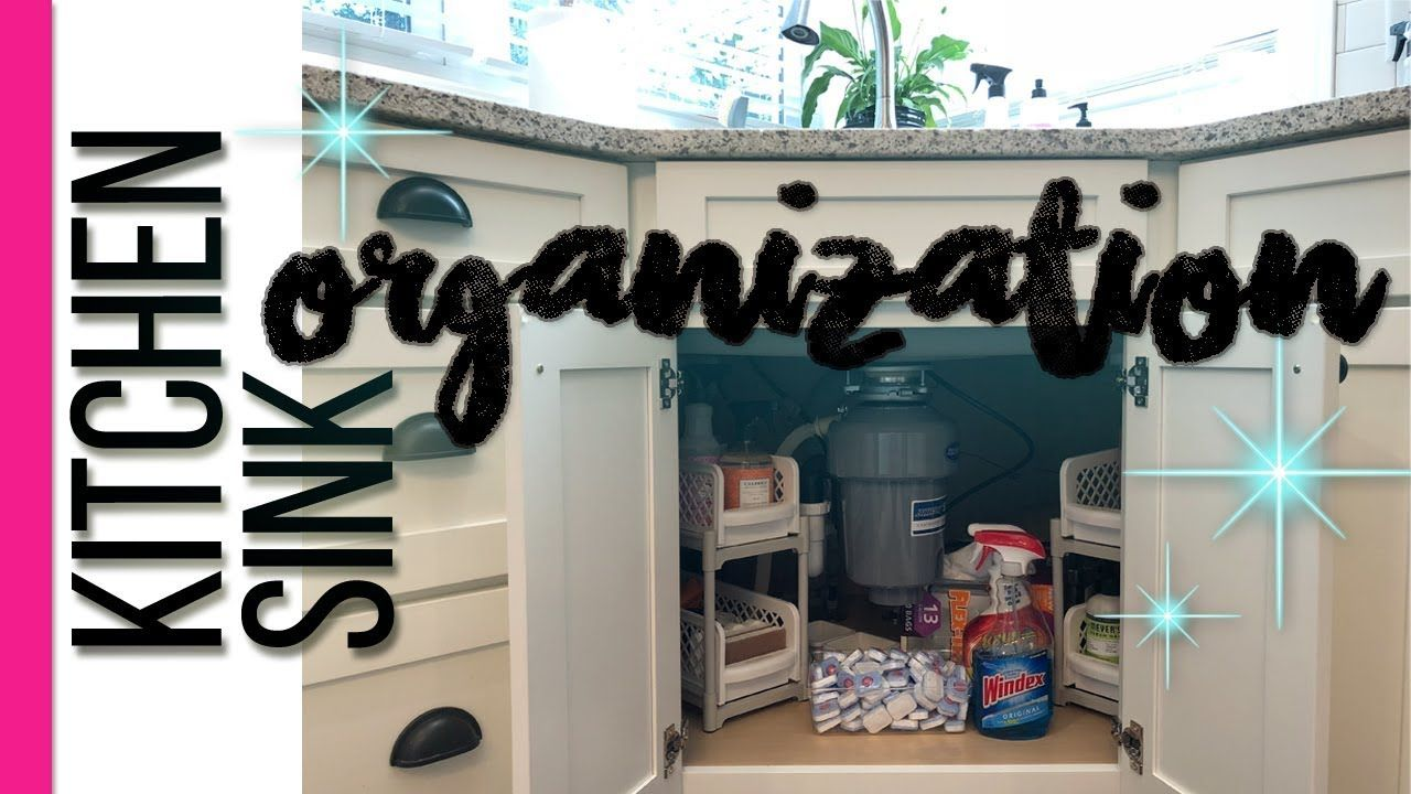 Organizing Under The Kitchen Sink Corner Sink Cleaning Supplies Org Cleaning Supplies Organization Kitchen Organization Hacks Diy Kitchen Sink Organization