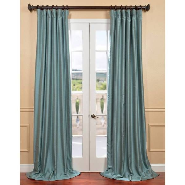Blue Agave Yarn Dyed Faux Dupioni Silk Curtain Panel Ping Great Deals
