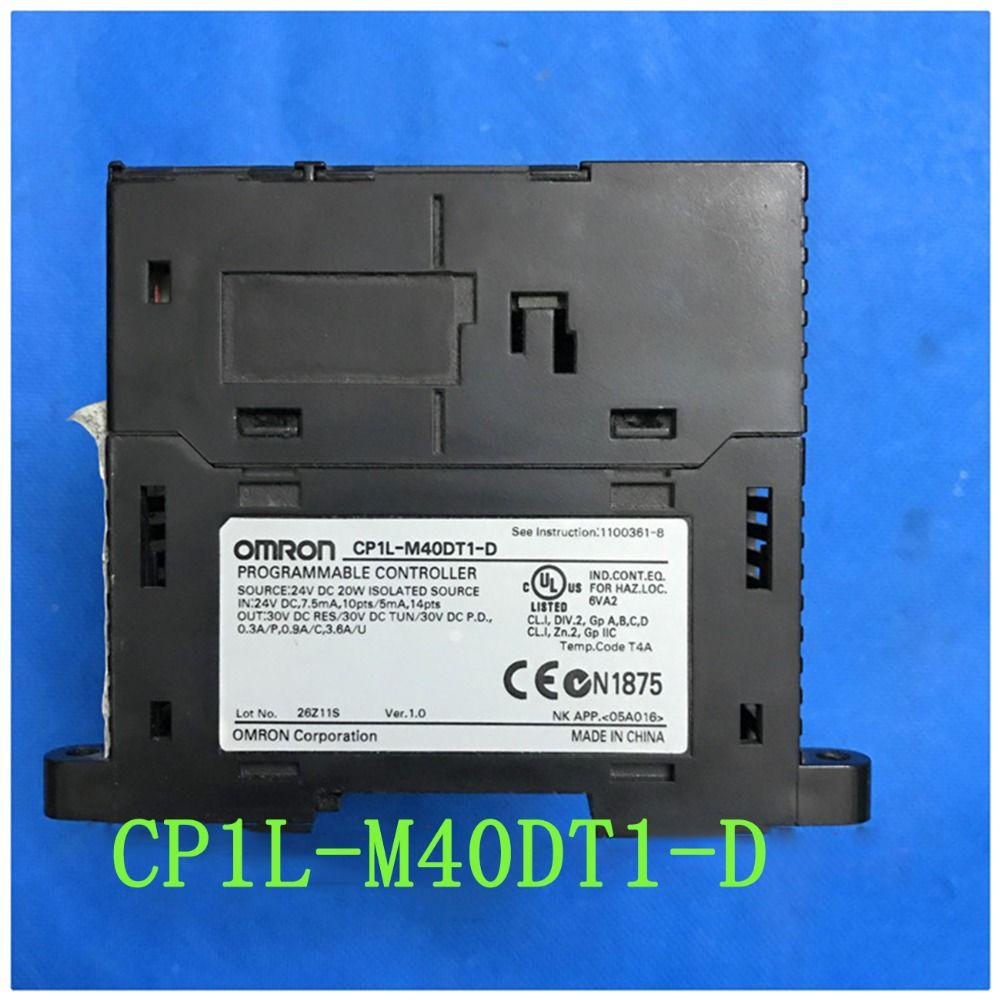 M40dt1 D Used Original Cp1l M40dt1 D Cp1l Plc Cpu For Omron Sysmac 40 I O 24 Di 16 Do Transistor Sourcing Transistors Electrical Equipment Electronic Products