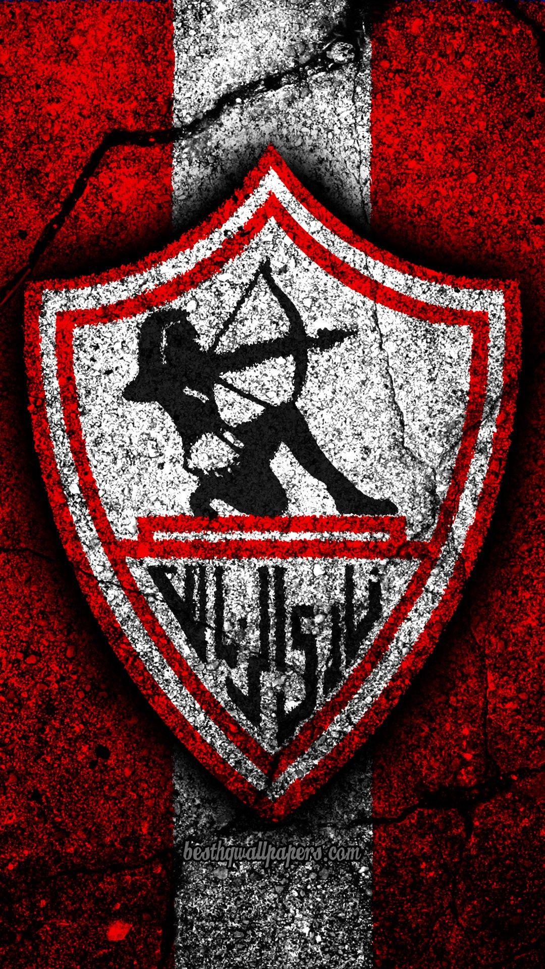 4k نادي الزمالك شعار الدوري المصري الممتاز الدوري الإنجليزي كرة القدم مصر الحجر الأسود الزمالك الأسفلت الملمس Zamalek Sc Pop Art Images Camo Wallpaper