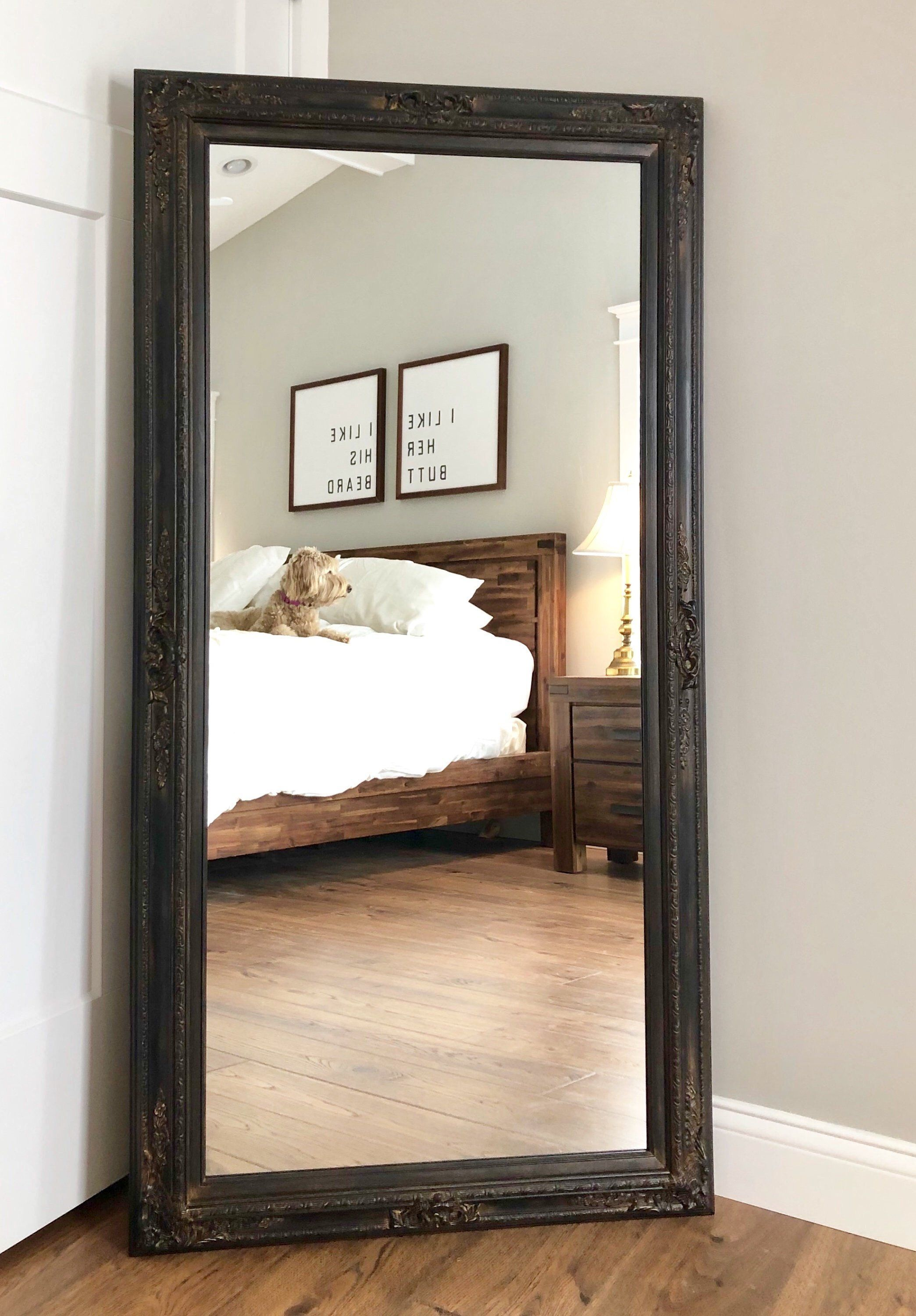 RUSTIC BLACK LEANING Mirror For Sale Full Length Mirror ...