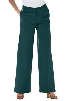 Plus Size Jean, stretch, wide leg #WWFallContest