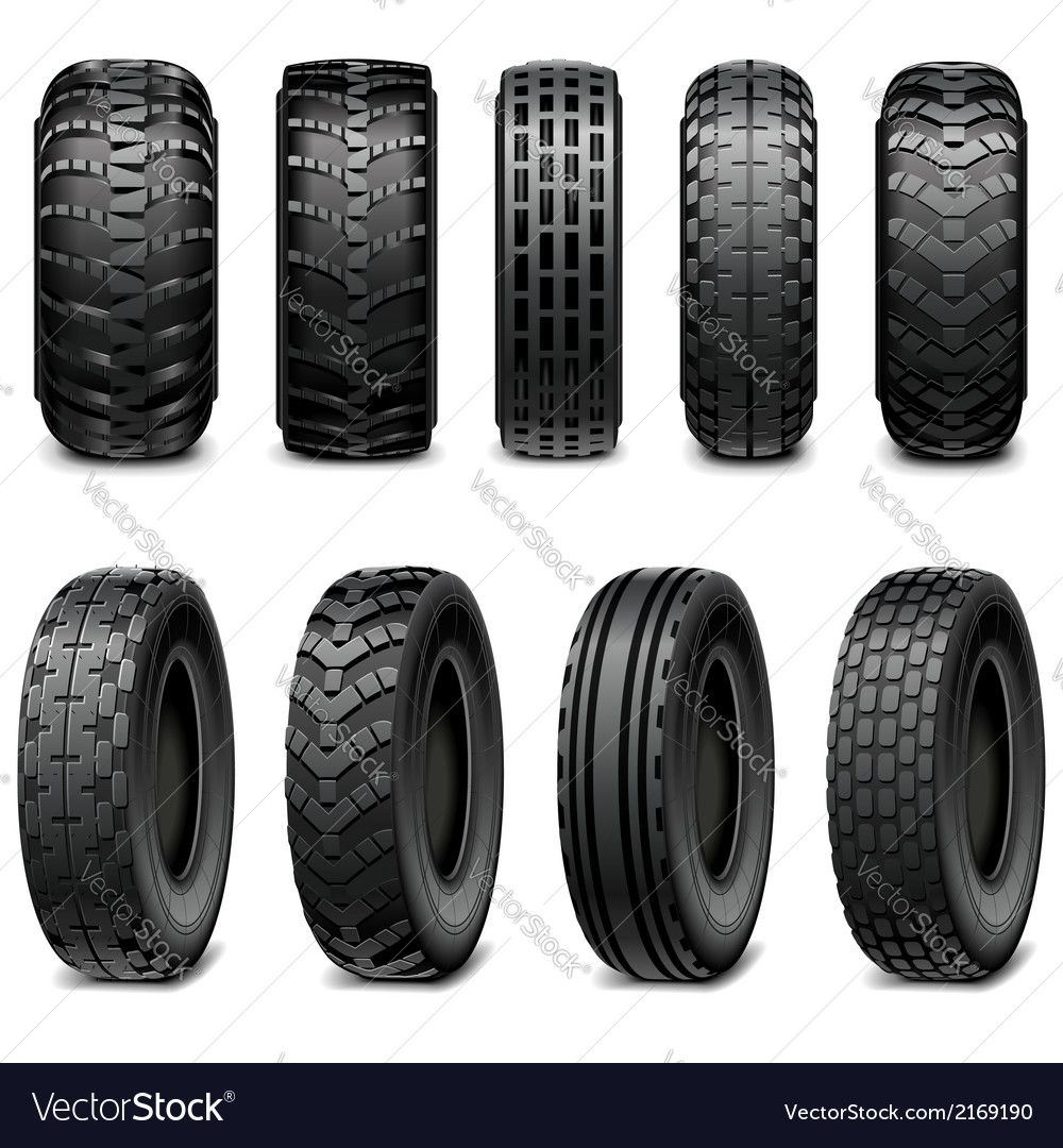 Truck and Tractor Tires Royalty Free Vector Image , AD,