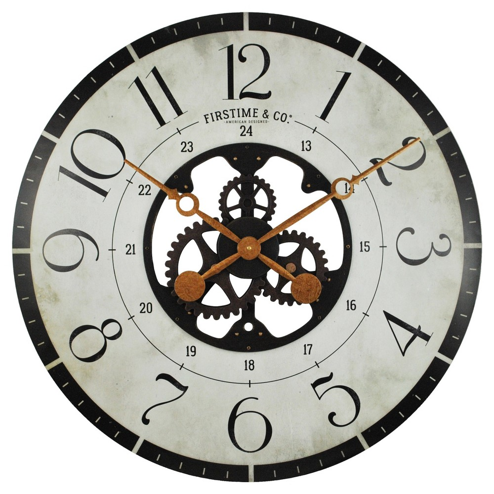 Carlisle gears round wall clock firstime carlisle and products