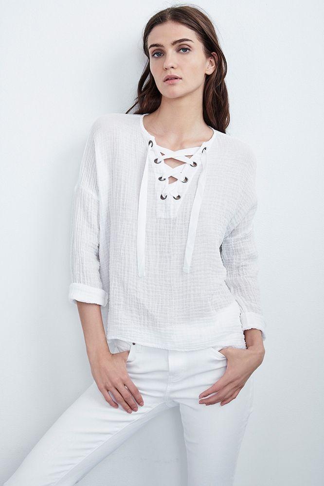 Escompte Combien Vente Boutique Pas Cher Top en coton AlinaVelvet evcxdWjyD