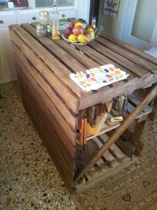 isla para cocina de palets