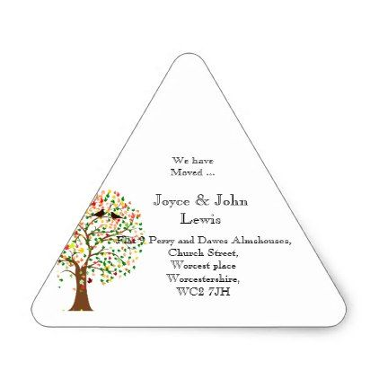Change of Address Stickers autumn fall family tree - change of address templates