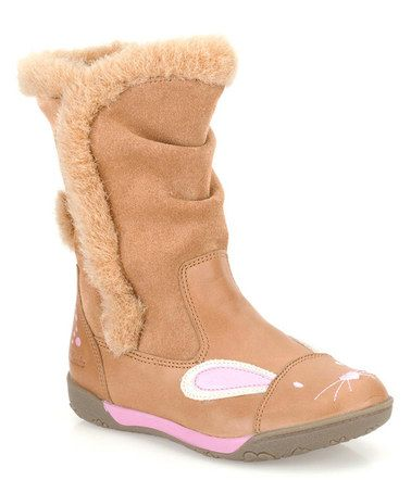 Take A Look At This Tan Nibbles Fluff Leather Boot On