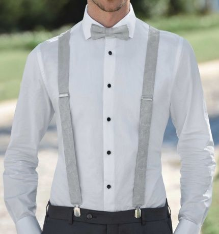 Wilvorst Fliege Und Hosentrager Beige Grau Clothes Groom Style Fashion