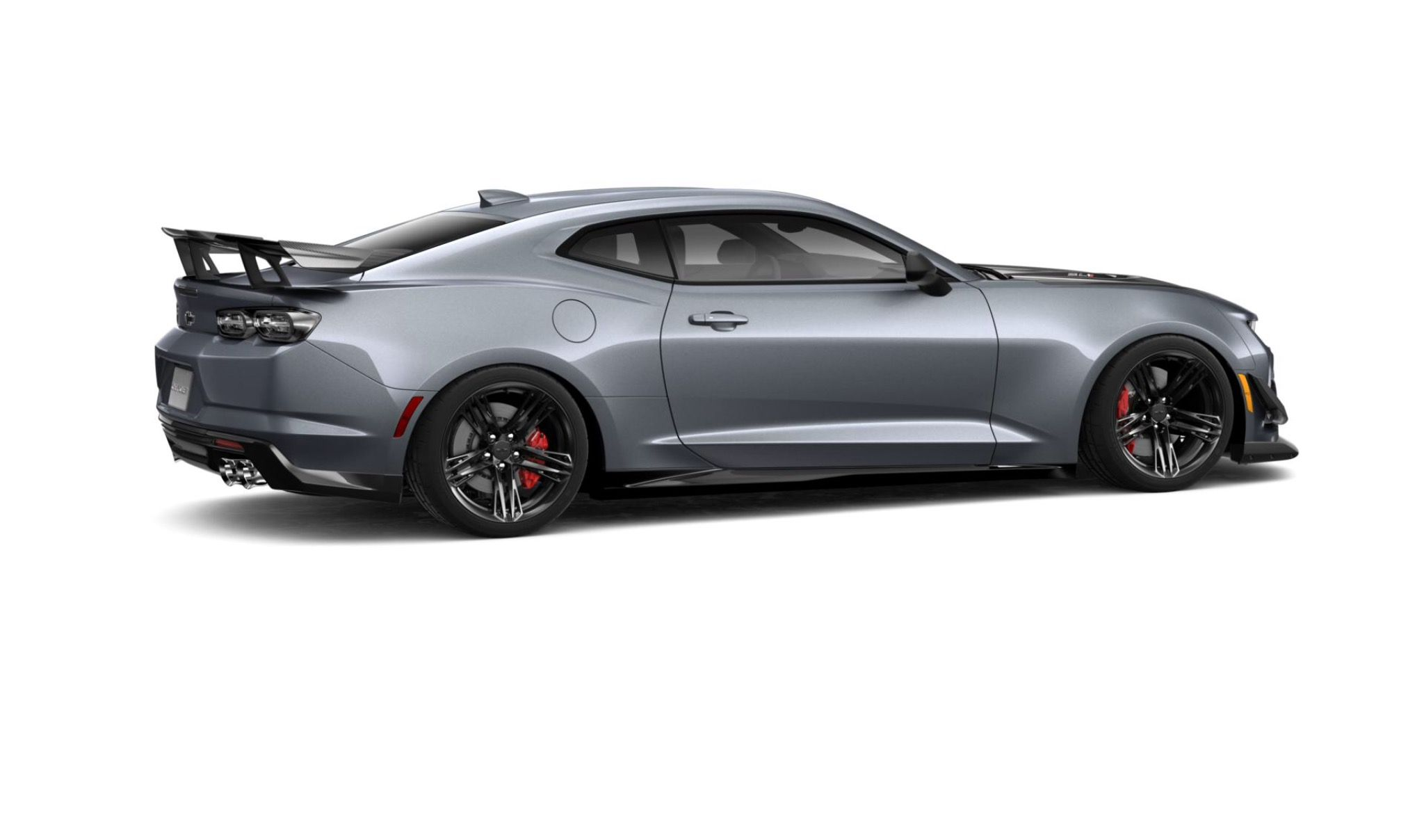 Rendering Of A 2019 Chevrolet Camaro Zl1 1le Painted In Satin