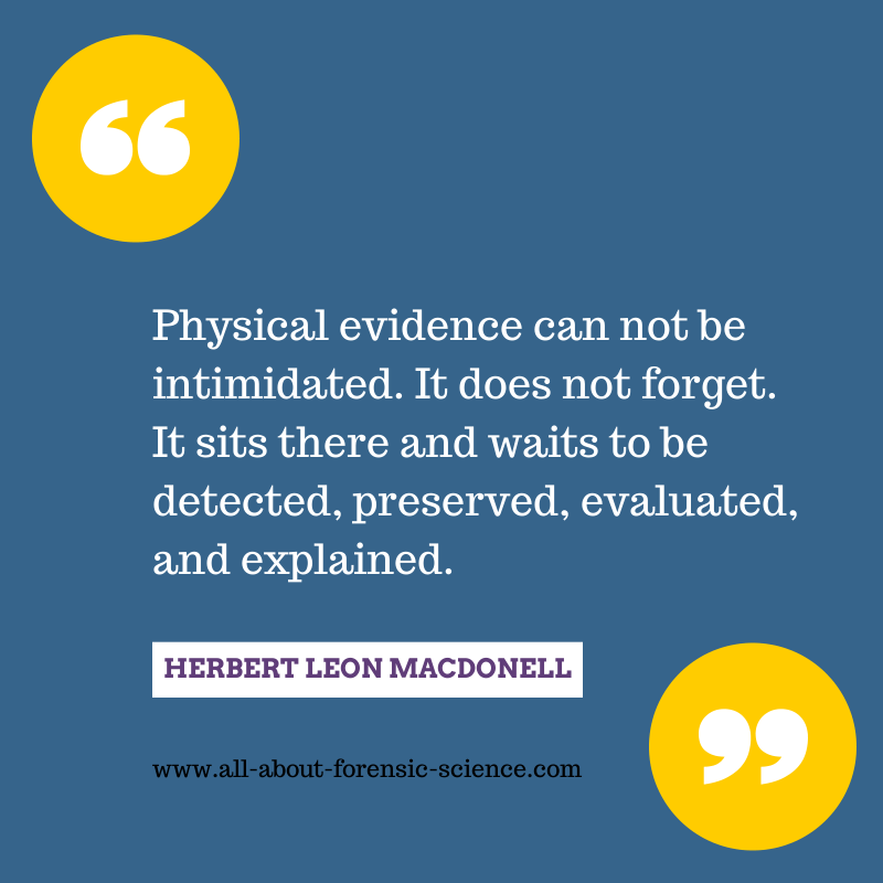 Love this quote! #ForensicScience #forensics #PhysicalEvidence