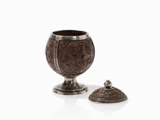 More Photos In Link Coconut Cup With Silver Mounting Germany