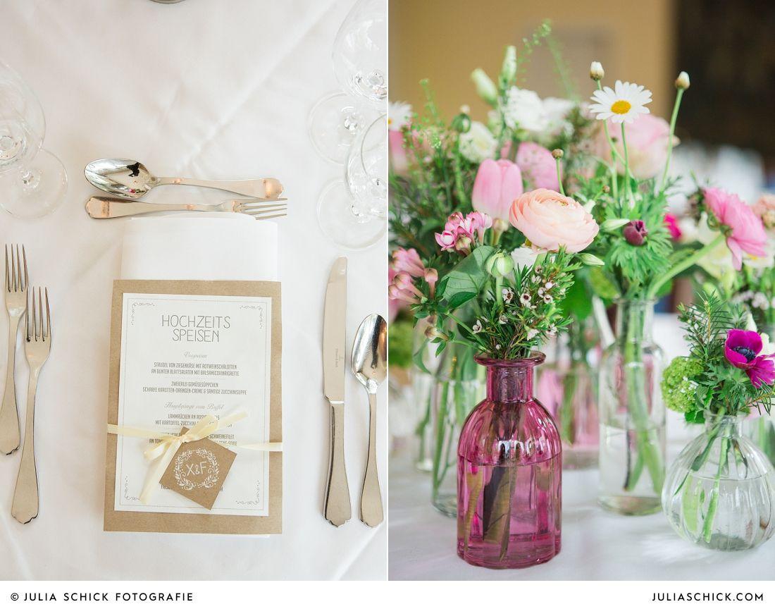 Hochzeitsdekoration Von Blutenzauber Auf Dem Sudmuhlenhof Menukarte