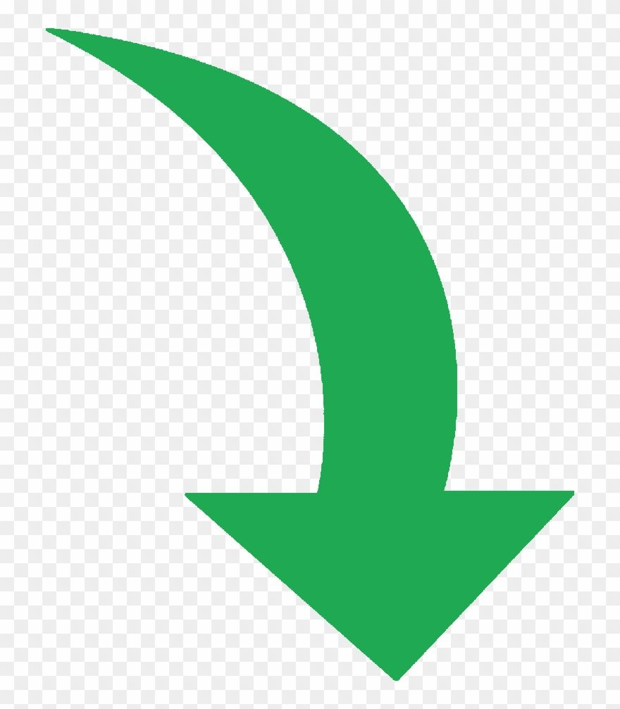 Green Curved Arrow Png Curved Arrow Arrow Illustration Free Icons Png