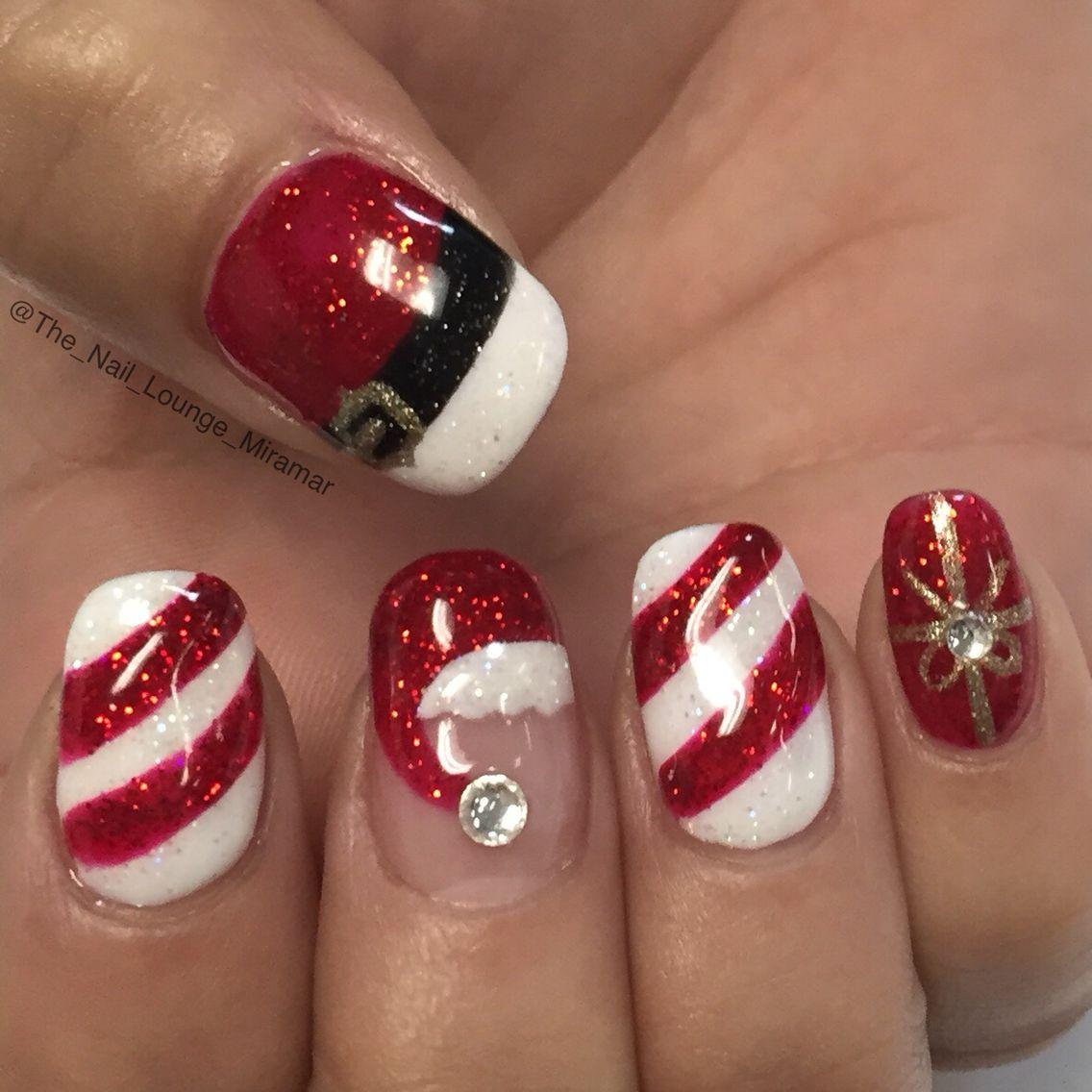 Santa Christmas nail art design