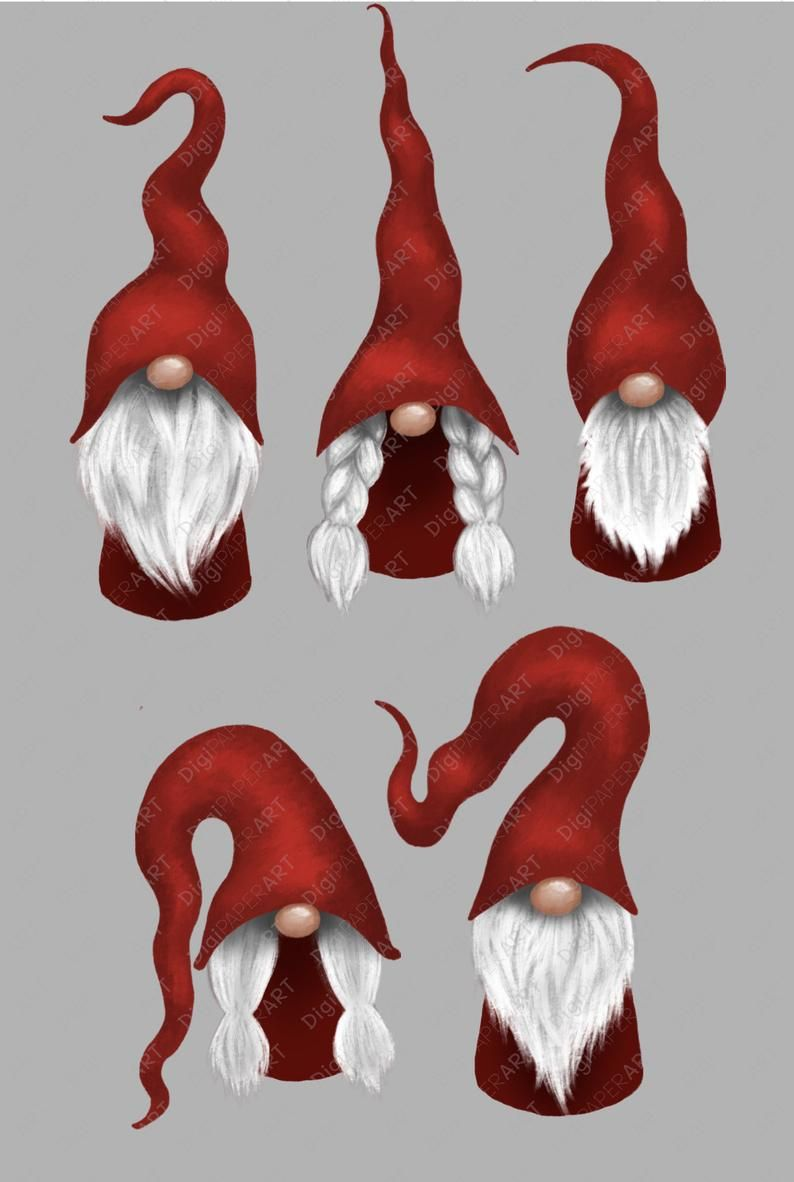 Scandinavian Gnome Clipart Christmas Gnomes Clipart Nordic Etsy Gnomes Crafts Clay Christmas Decorations Christmas Gnome