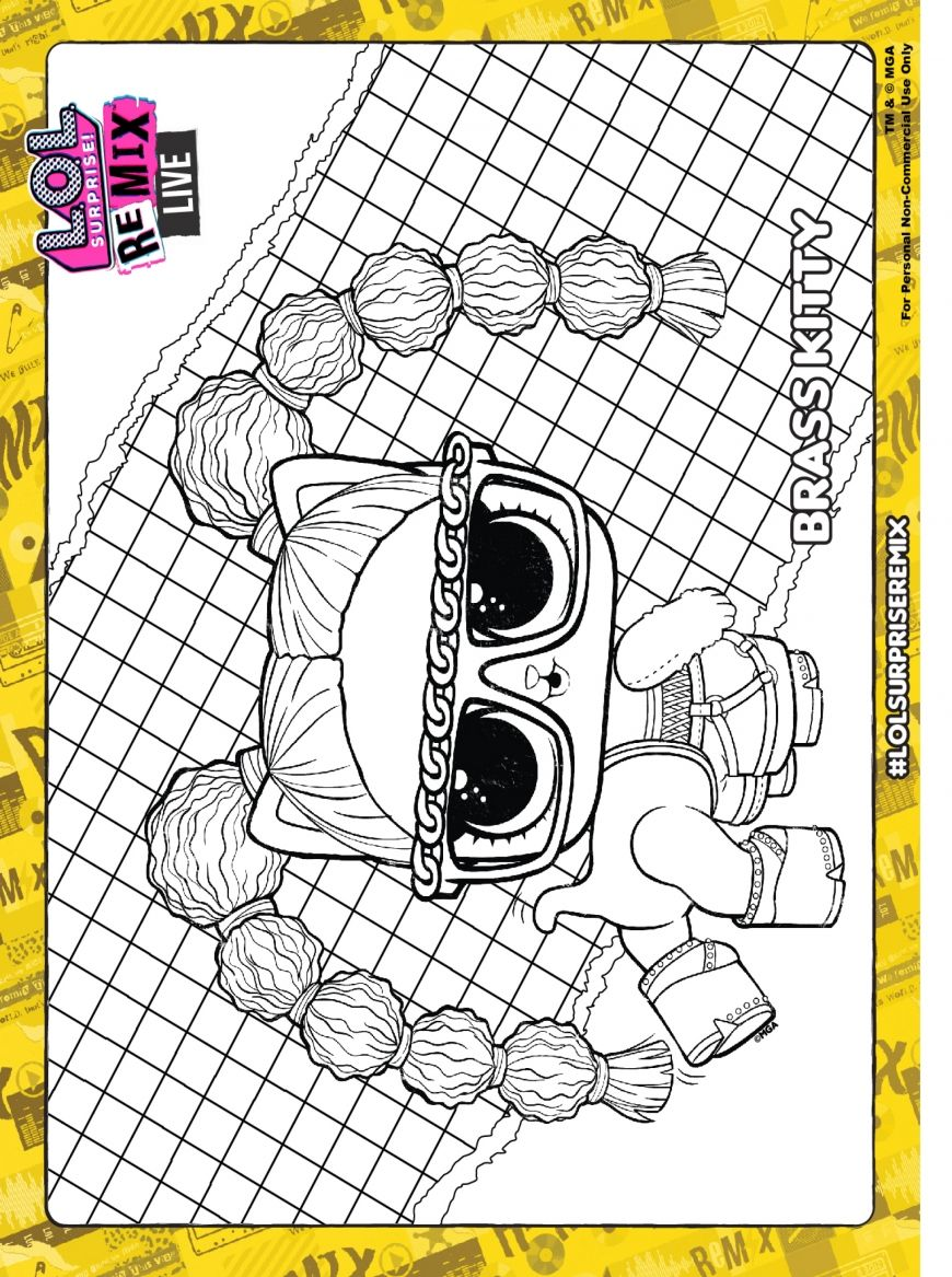 Lol Surprise Remix Coloring Pages And Activity Pages Youloveit Com Coloring Pages Lol Dolls Lol