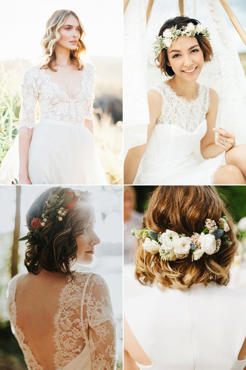 20 Totally Chic On-Trend Ways to Style Your Bridal Bob | Bobs, Short ...