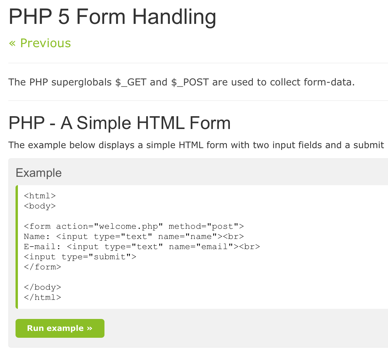 How to do back end server PHP form handling for HTML input forms ...
