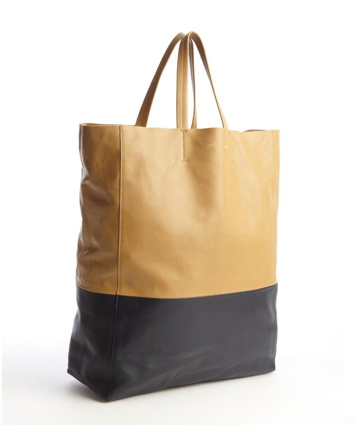 e817da089 Celine Camel And Blue Lambskin Two-Tone Tote Bag on shopstyle.com on sale  for $895