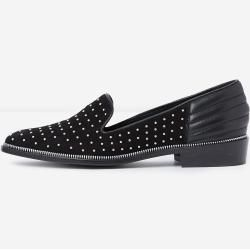 Photo of The Kooples Black Studded Suede Moccasins – …