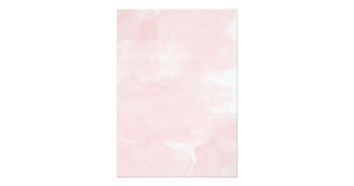 Modern Blush Pink Watercolor Wedding Invitation Zazzle Com