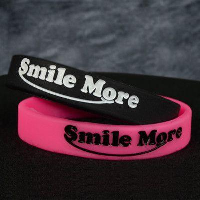Smile More Silicone Bracelets