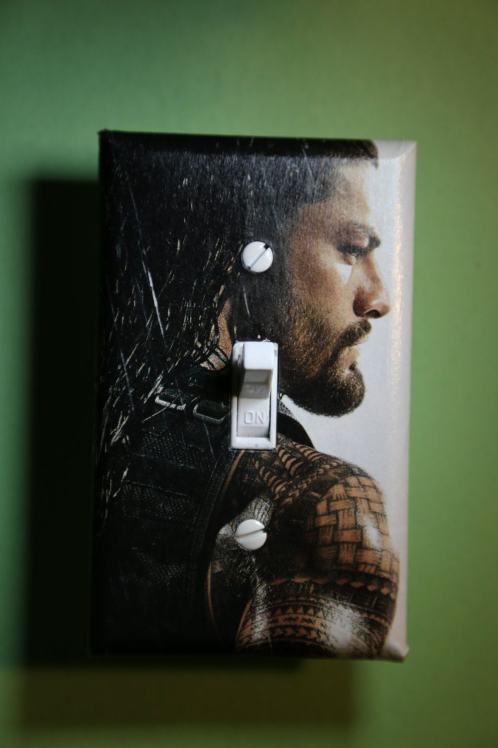 Wrestling Room Design: WWE Roman Reigns Light Switch Plate Cover Comic Book Boys