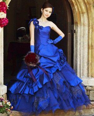 I Prefer A Coloured Wedding Dress Over Boring White Like This Beautiful Royal Blue