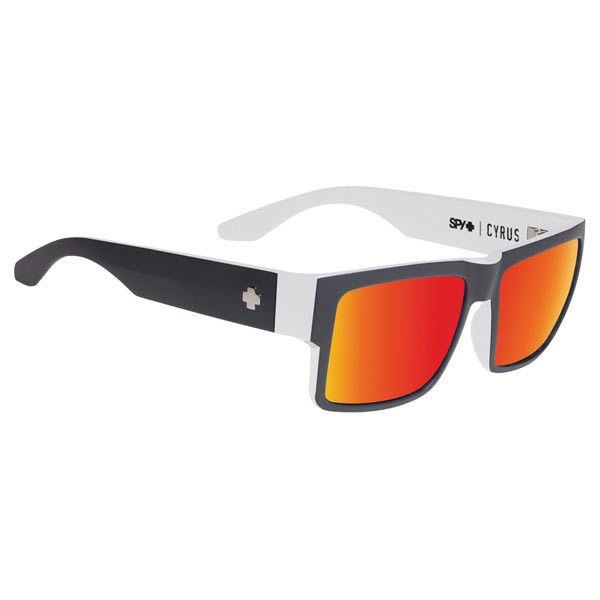 Spy CYRUS WHITEWALL - HAPPY GREY GREEN W  RED SPECTRA Sunglasses ( 115) ❤ 0be99d8a6c