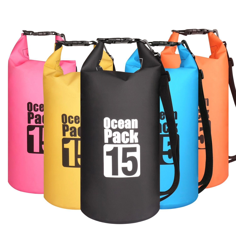 15l Wasserdichte Wasserdicht Dry Bag Sack Lagerung Packung Beutel Schwimmen Outdoor Kajak Kanu Fluss Trekking Bootfahren Spargut Innovative Produkte Zu Top Pr Kajak Boot Fahren Kanu