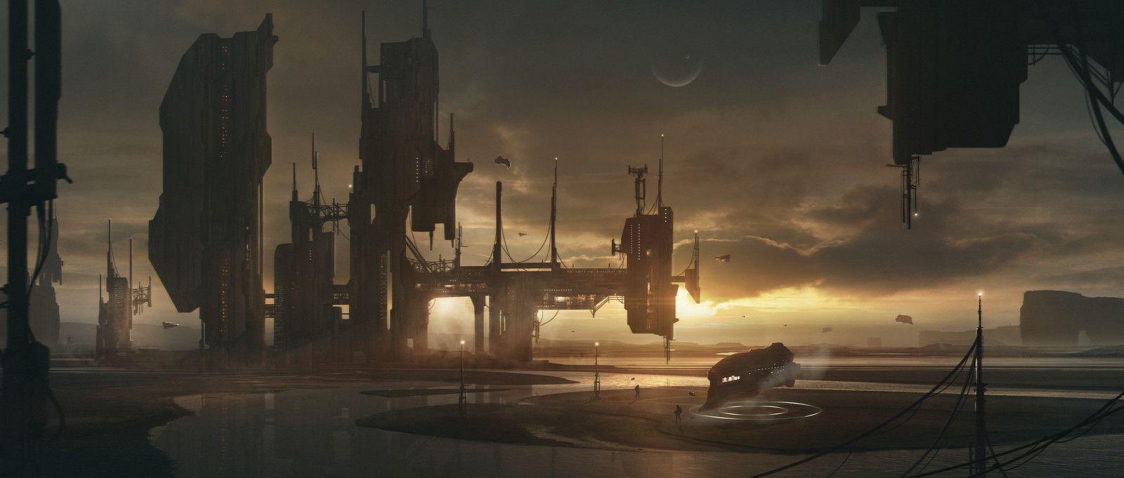 Shipyard, JULIAN CALLE on ArtStation at https://www.artstation.com/artwork/qB6BR