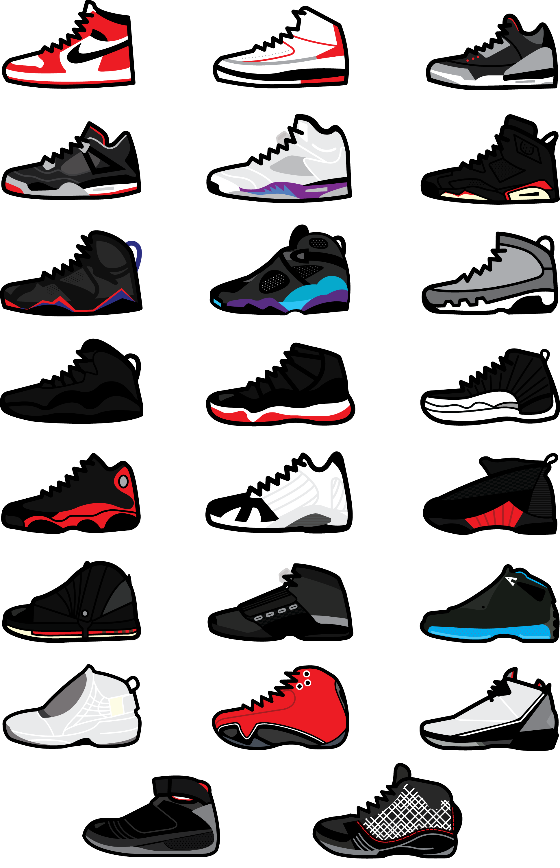 shoe wallpaper RIM DE KROON DESIGN JORDAN MJ, 2020