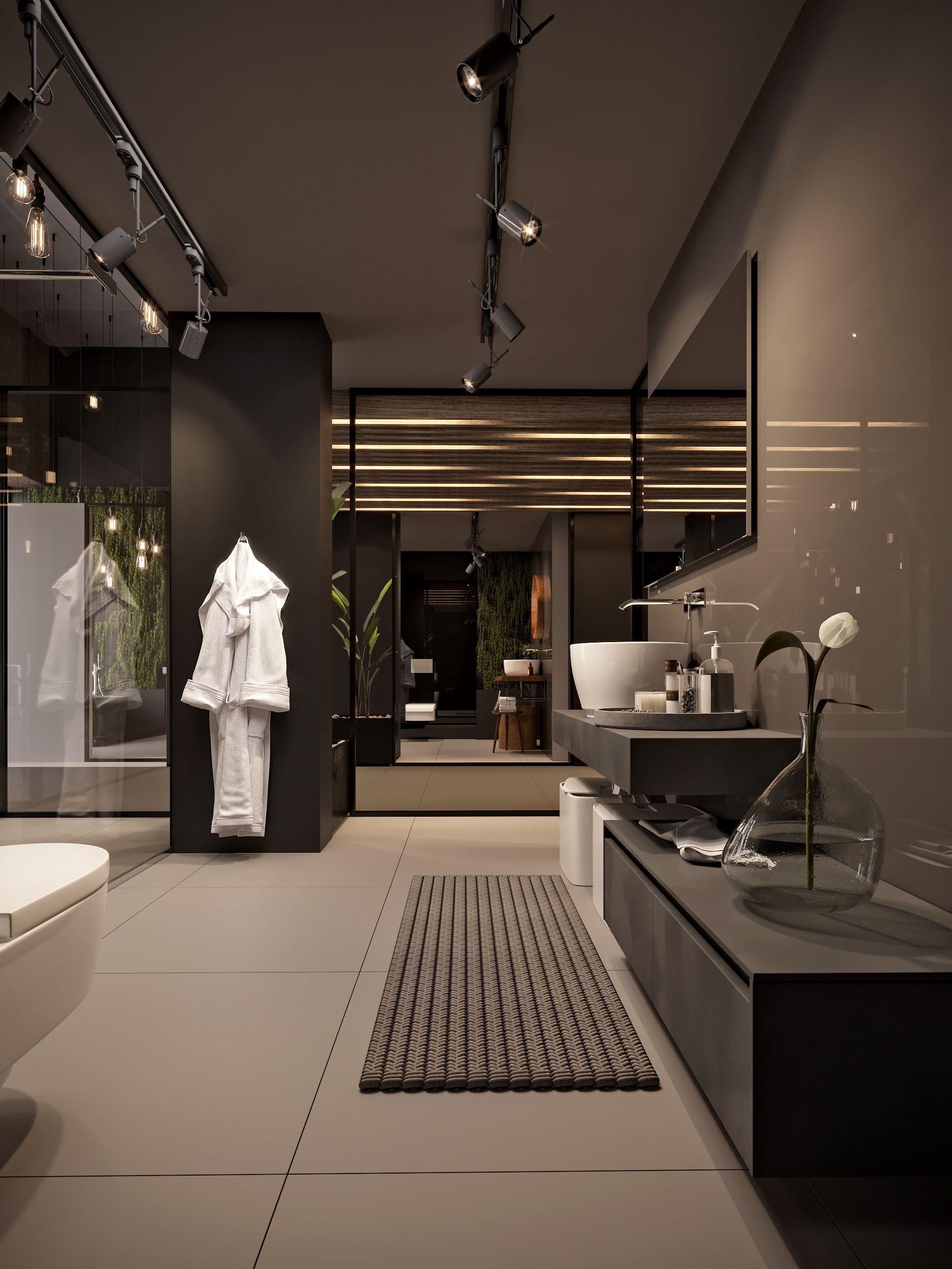 Bathroom Showroom Design By M Serhat Sezgin Dream House Decor Dream House Interior Mansion Interior